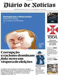 capa Diário de Notícias de 21 setembro 2019