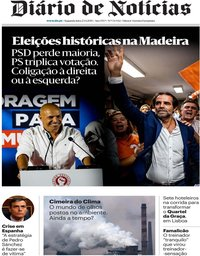 capa Diário de Notícias de 23 setembro 2019