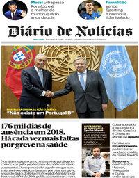 capa Diário de Notícias de 24 setembro 2019