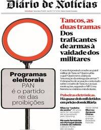 capa Diário de Notícias de 27 setembro 2019