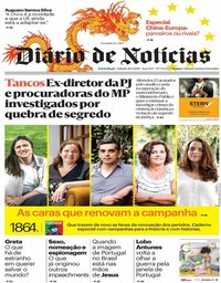 capa Diário de Notícias de 28 setembro 2019