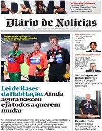 capa Diário de Notícias de 30 setembro 2019