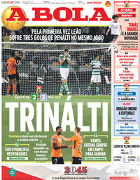 capa Jornal A Bola de 1 setembro 2019