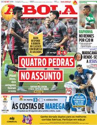 capa Jornal A Bola de 2 setembro 2019