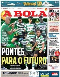 capa Jornal A Bola de 6 setembro 2019
