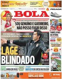 capa Jornal A Bola de 7 setembro 2019