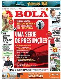 capa Jornal A Bola de 12 setembro 2019