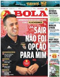 capa Jornal A Bola de 13 setembro 2019