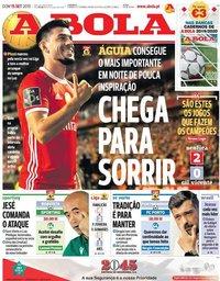 capa Jornal A Bola de 15 setembro 2019