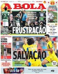 capa Jornal A Bola de 16 setembro 2019