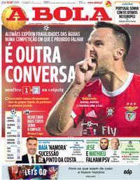 capa Jornal A Bola de 18 setembro 2019