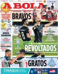 capa Jornal A Bola de 20 setembro 2019