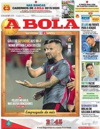 capa Jornal A Bola de 22 setembro 2019