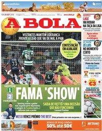 capa Jornal A Bola de 24 setembro 2019
