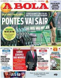capa Jornal A Bola de 25 setembro 2019