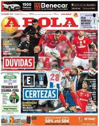 capa Jornal A Bola de 26 setembro 2019