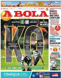 capa Jornal A Bola de 27 setembro 2019