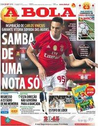 capa Jornal A Bola de 29 setembro 2019