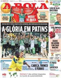 capa Jornal A Bola de 30 setembro 2019