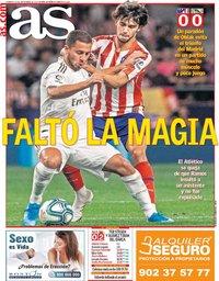 capa Jornal As de 29 setembro 2019