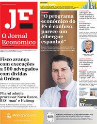 capa Jornal Económico de 6 setembro 2019