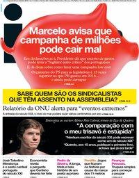 capa Jornal i de 2 setembro 2019