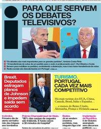 capa Jornal i de 5 setembro 2019