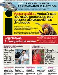 capa Jornal i de 9 setembro 2019