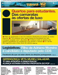 capa Jornal i de 12 setembro 2019