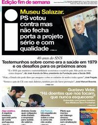 capa Jornal i de 13 setembro 2019