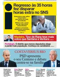 capa Jornal i de 24 setembro 2019