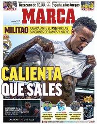 capa Jornal Marca de 12 setembro 2019