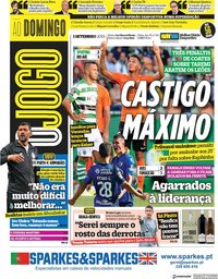 capa Jornal O Jogo de 1 setembro 2019