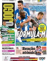capa Jornal O Jogo de 2 setembro 2019