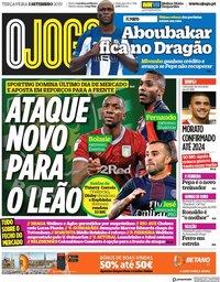 capa Jornal O Jogo de 3 setembro 2019