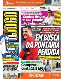 capa Jornal O Jogo de 7 setembro 2019