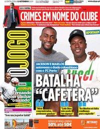 capa Jornal O Jogo de 12 setembro 2019
