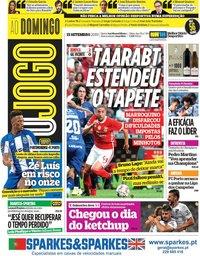 capa Jornal O Jogo de 15 setembro 2019