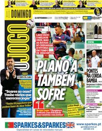 capa Jornal O Jogo de 22 setembro 2019