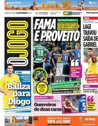 capa Jornal O Jogo de 24 setembro 2019