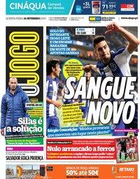 capa Jornal O Jogo de 26 setembro 2019