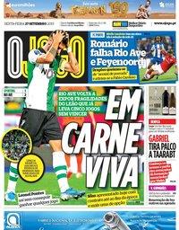capa Jornal O Jogo de 27 setembro 2019