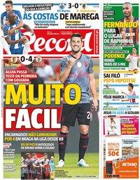 capa Jornal Record de 2 setembro 2019