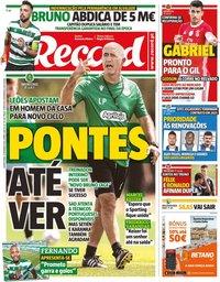 capa Jornal Record de 4 setembro 2019