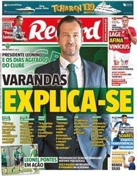 capa Jornal Record de 5 setembro 2019