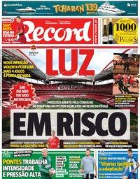 capa Jornal Record de 6 setembro 2019