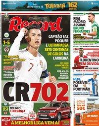 capa Jornal Record de 11 setembro 2019