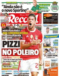 capa Jornal Record de 15 setembro 2019