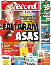 capa Jornal Record de 18 setembro 2019