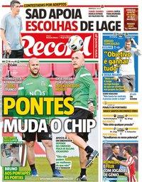 capa Jornal Record de 19 setembro 2019